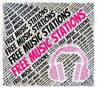 Free Music Stations Represents Satellite Radio And Internet Stock Illustration
