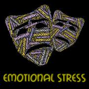 Emotional Stress Represents Heart Breaking And Emotions Stock Illustration