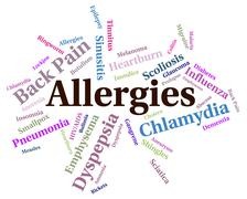 Stock Illustration of Allergies Problem Shows Ill Health And Affliction