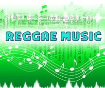 Reggae Music Shows Sound Track And Audio - stock illustration