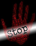 Stop Nausea Shows Throw Up And Control Piirros
