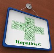 Hepatitis C Indicates Poor Health And Ailment Stock Illustration