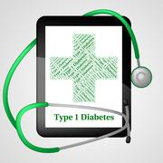 Stock Illustration of One Diabetes Shows Urine Glucose And Affliction