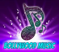 Stock Illustration of Bollywood Music Represents Sound Track And Audio