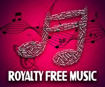 Royalty Free Music Shows Sound Tracks And Rf - stock illustration