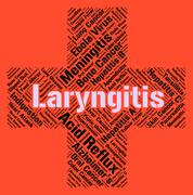 Laryngitis Word Represents Poor Health And Ailment - stock illustration