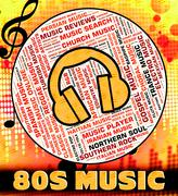 Eighties Music Shows Sound Track And Harmonies Stock Illustration