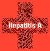 Hepatitis A Indicates Ill Health And Affliction Stock Illustration