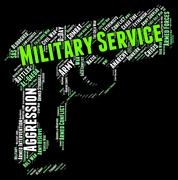 Stock Illustration of Military Service Represents Armed Forces And Army