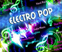 Electro Pop Indicates Sound Track And Dance - stock illustration