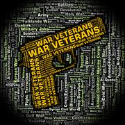 War Veterans Indicates Long Service And Combat - stock illustration