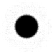 Radial graphical black and white gradient in halftone style Piirros