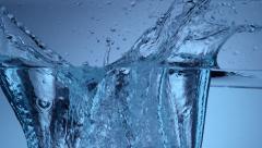 Water bottle splash in slow motion; shot on Phantom Flex 4K at 1000 fps - stock footage