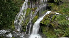Long Exposure Water Flowing at Panther Creek Falls in Skamania County WA 1080p Stock Footage