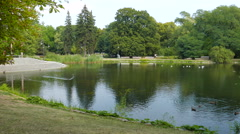 Ujazdow Park - one of the most picturesque parks of Warsaw, Poland. Stock Footage