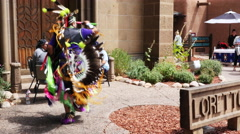 4K Traditional Native American dance routine. Stock Footage