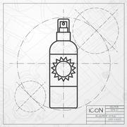 Vector set of flat bottles Stock Illustration