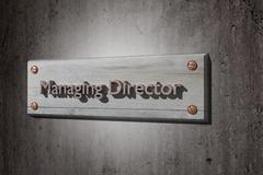 Managing director - stock illustration