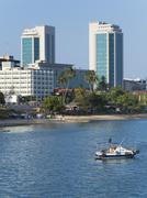 Harbour waterfront, Dar es Salaam, Tanzania, East Africa, Africa Stock Photos