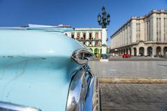 American car, Havana, Cuba, West Indies, Caribbean, Central America Stock Photos