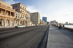 Stock Photo of Malacon Sea Front, Havana, Cuba, West Indies, Caribbean, Central America