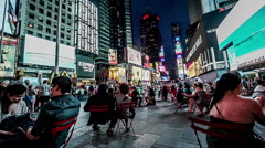 Timelapse of the visitors at Times Square, Manhattan, New York City - stock footage