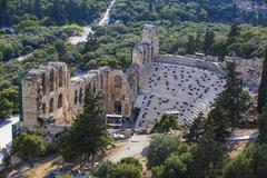 The Odeon of Herodes Atticus (the Herodeon), Athens, Greece, Europe - stock photo