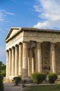 Temple of Hephaestus, The Agora, Athens, Greece, Europe - stock photo
