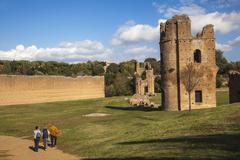 Villa de Massenzio, Ancient Appian Way, Rome, Lazio, Italy, Europe - stock photo