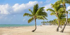 Juanillo Beach, Cap Cana, Punta Cana, Dominican Republic, West Indies, - stock photo