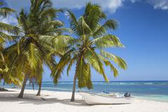 Mano Juan, a picturesque fishing village, Saona Island, Parque Nacional del Stock Photos