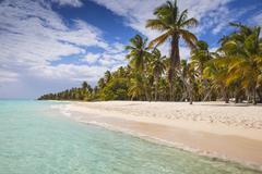 Canto de la Playa, Saona Island, Parque Nacional del Este, Punta Cana, Dominican - stock photo