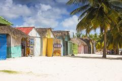 Mano Juan, a picturesque fishing village, Saona Island, Parque Nacional del - stock photo