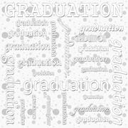 Graduation Design with Gray and White Polka Dot Tile Pattern Repeat Backgroun - stock illustration