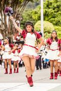 Majorette Group At Summer Holiday Festivity - stock photo