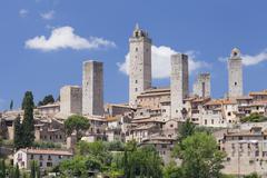 San Gimignano, UNESCO World Heritage Site, Siena Province, Tuscany, Italy, Stock Photos