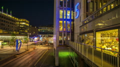 Avenue Sveavägen in Stockholm, Sweden Stock Footage