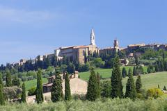 Pienza, Val d'Orcia (Orcia Valley), UNESCO World Heritage Site, Siena Province, Stock Photos