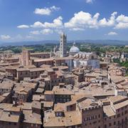 Old town with Santa Maria Assunta Cathedral, Siena, UNESCO World Heritage Site, Stock Photos