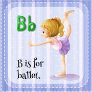 Alphabet B is for ballet Stock Illustration
