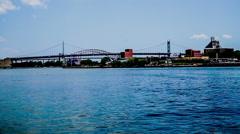 The two bridges of New York City, NY, USA Stock Footage