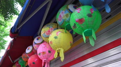 Multi Colored Paper Korean Lanterns Stock Footage