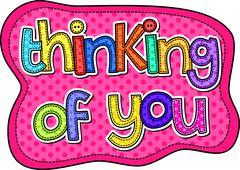 Thinking of You Stitch Text Stock Illustration