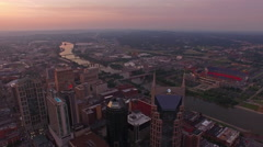Aerial Tennessee Nashville Stock Footage
