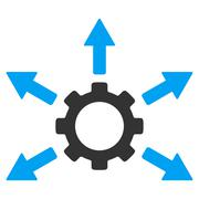 Gear Distribution Icon - stock illustration