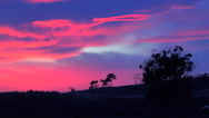 Stock Video Footage of A beautiful otherworldly sunrise or sunset along the California coast with a