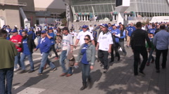 Toronto Blue Jays major league baseball fans during the playoffs - stock footage
