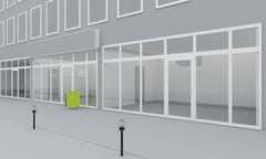 Stock Illustration of Illustration of shop or office facade. Exterior
