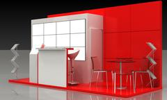 Stock Illustration of Exhibition Stand Interior-Exterior Sample