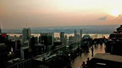 Panoramic and aerial view of Manhattan buildings in New York City, NY Stock Footage